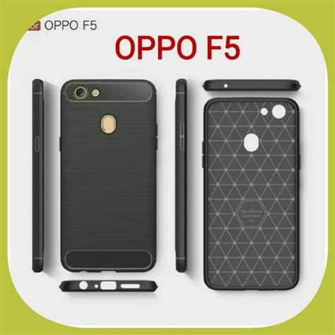 Hp Tablet Oppo Termurah fiber carbon oppo f5 soft back casing hp oppo f5 elektronik aksesoris tablet