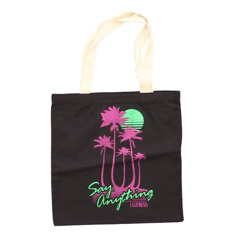 tree bag say anything palm tree tote bag