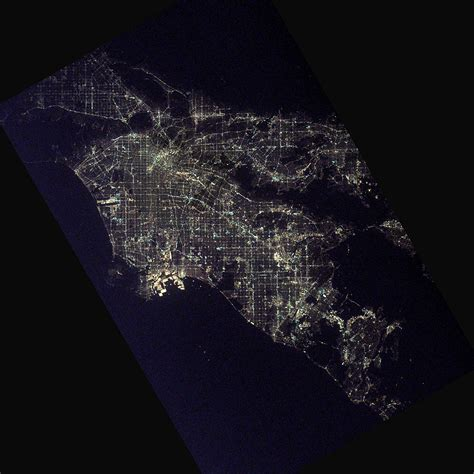 Lights America by Los Angeles At Night Image Of The Day