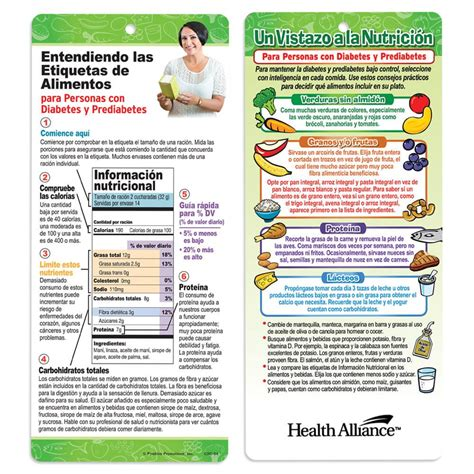 understanding food labels  people  diabetes  sided spanish glancer positive promotions