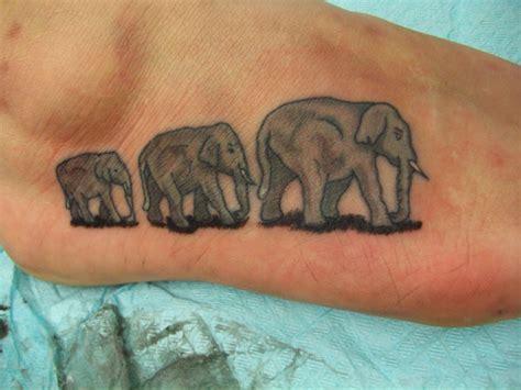 family tattoo foot 39 elephant family tattoos