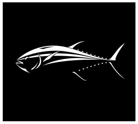 yellowfin boat decals tuna decal car window or boat bluefin tuna fish sticker