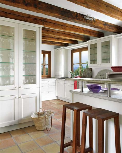 Kitchen Backsplash Ideas With Oak Cabinets wood beams and jewel tones a rustic house adorable home