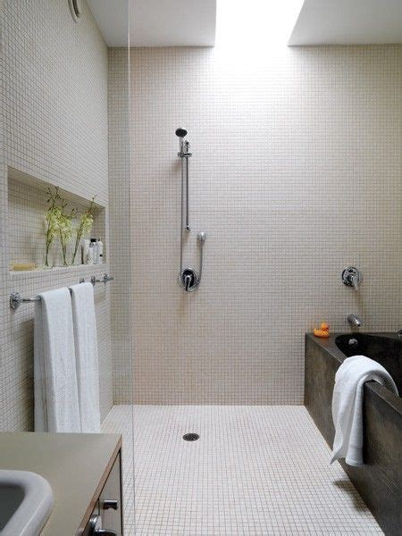 Same Bathrooms by Open Shower Tub Combo