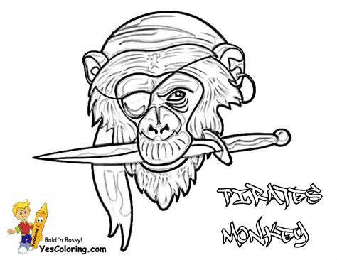 monkey pirate coloring pages pirates caribbean coloring pages pirates of the