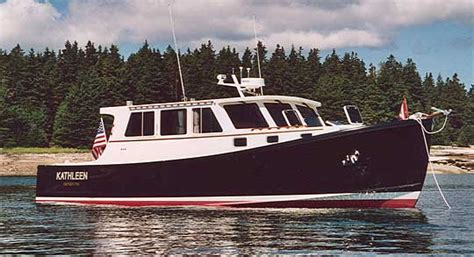lobster boat conversion for sale johansen boatworks 42 downeast downeast style boats