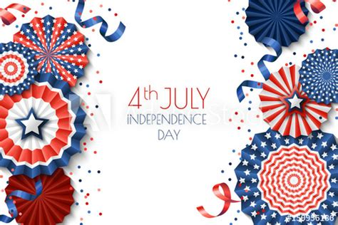 4th Of July Greeting Card Templates by 4th Of July Usa Independence Day Vector Banner Template