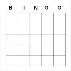Blank Card Template For Word by Blank Bingo Template 9 Free Documents In Pdf
