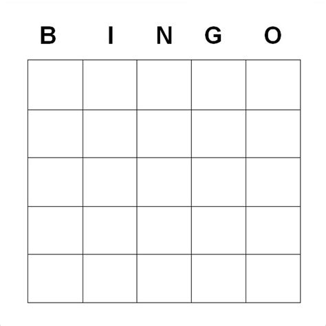 Blank Card Template Doc by 9 Blank Bingo Sles Pdf Word Sle Templates