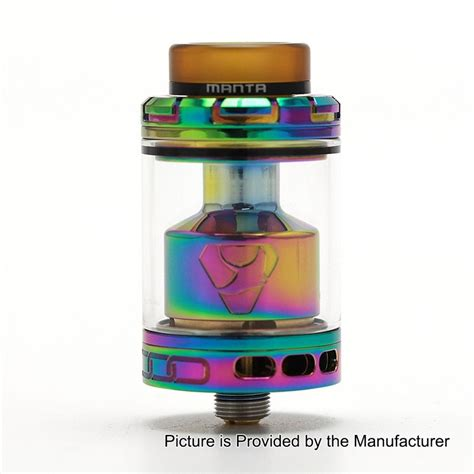 Manta Rta Stanless Steel Color Authentic By Advken authentic advken manta rta rainbow 4 5ml 24mm tank atomizer