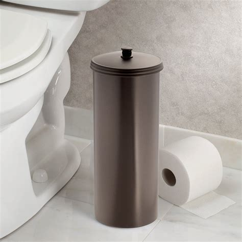 Toilet Paper Roll Storage by Toilet Paper Roll Tissue Holder Reserve Canister Bathroom