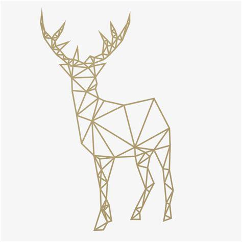 Canvas Decor Deer Geometric 2017 new design geometric deer wall stickers for living