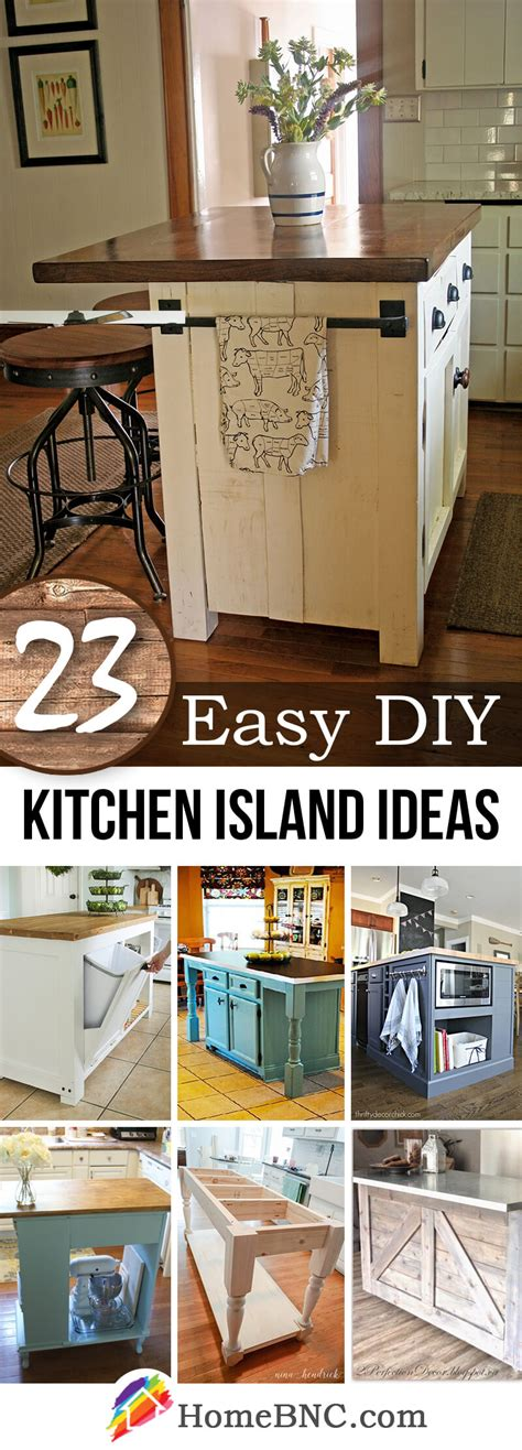 kitchen diy ideas 23 best diy kitchen island ideas and designs for 2018