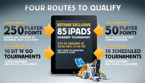 Bad Poker Players Giveaway - 85 ipad giveaway tournament at betfair poker pokernews