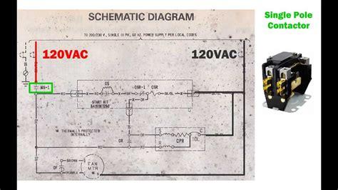 hvac condenser   read ac schematic  wiring