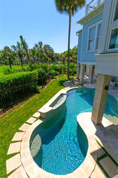 Isle Of Palms Home Renovation Home Bunch Interior Design Beautiful Small Backyard Pool Ideas