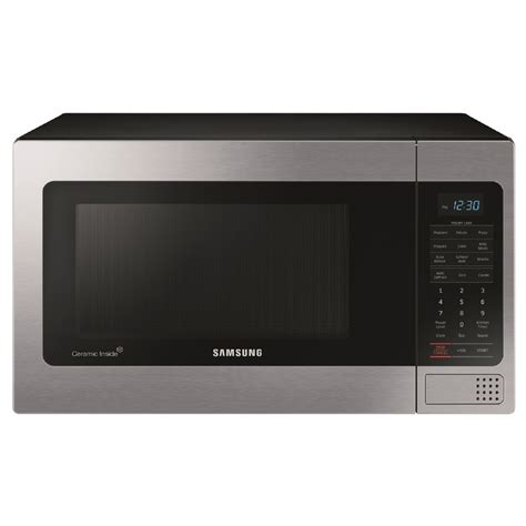 Microwave Samsung Low Watt shop samsung 1 1 cu ft 1000 watt countertop microwave