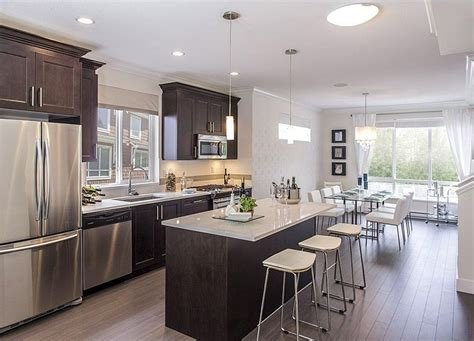 contemporary kitchen with flush light flat panel cabinets zillow digs
