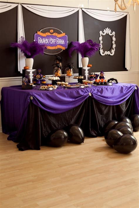 Black And Purple Table Decorations by Tablescapes Purple Black So