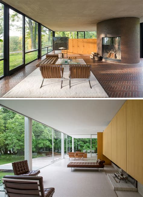 side by side house the iconic four seasons restaurant explores two architectural gems the glass house