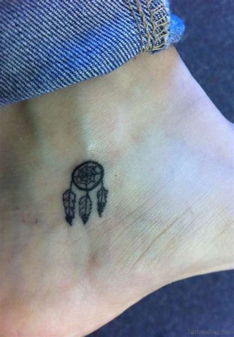 cute small dreamcatcher tattoos 41 dreamcatcher tattoos on ankle
