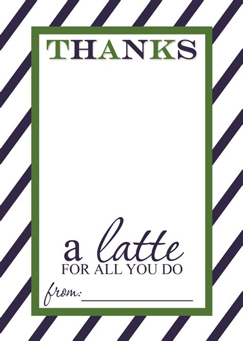 Starbucks Teacher Appreciation Gift Card - teacher appreciation gift idea thanks a latte free printable card templates mama