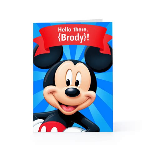 Mickey Mouse Birthday Card Quotes