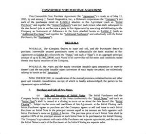 Convertible Loan Agreement Template sample convertible note agreement 6 free documents