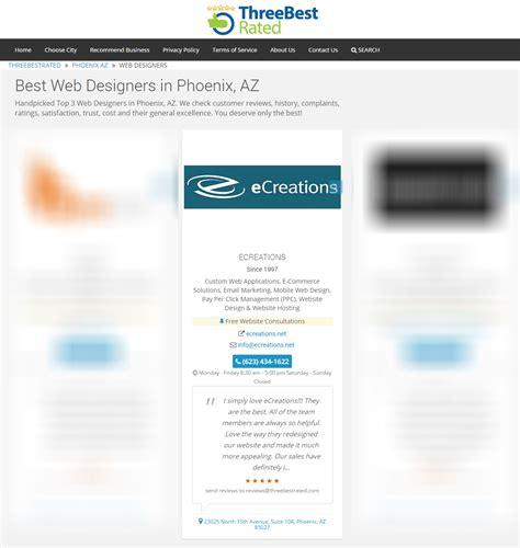 best web designers best web designers in phoenix az ecreations takes a spot