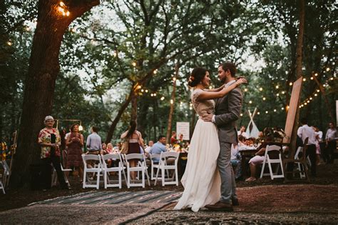 backyard wedding dance floor diy backyard wedding in the woods reception string