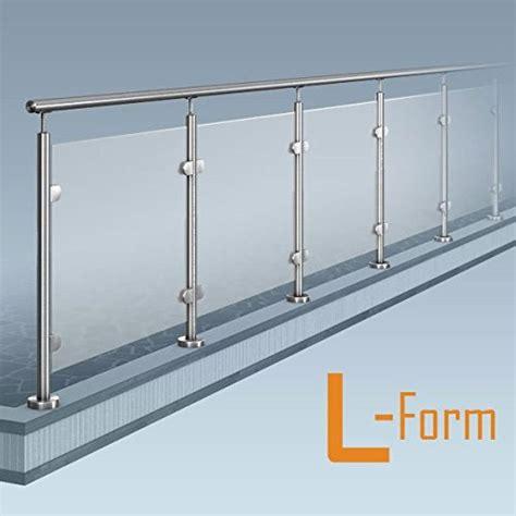 Balkongeländer Stahl Bausatz by Glas Pfosten Gel 228 Nder L Form 1x90 176 Ecke Bausatz Diy