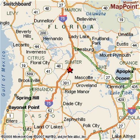 bushnell florida map bushnell florida
