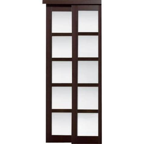 Home Depot Closet Doors Sliding by Truporte 48 In X 80 In 2240 Series Espresso 5 Lite