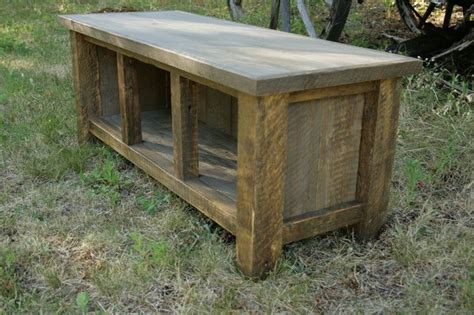 rustic entry bench reclaimed rustic three cubby entry bench