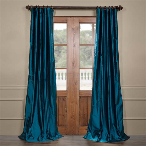largest selection of curtains half price drapes tahitian teal silk taffeta curtain sstf