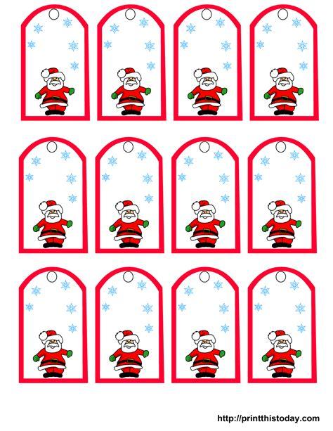 printable name tags for gifts santa claus and snowflakes free printable christmas gift