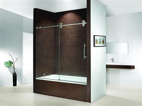 bathtub sliding glass door idea for our bath door fleurco ktw060 kinetik hardware systems sliding glass bath tub