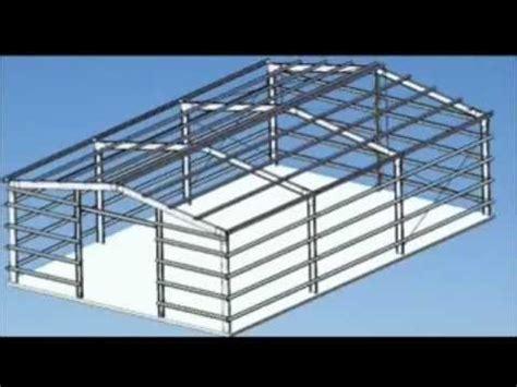 portal frame design youtube how to make a portal frame shed or garage youtube