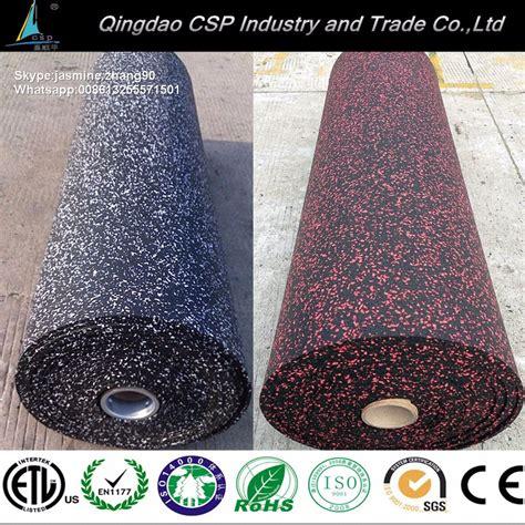 tappeto di gomma per palestra riduzione rumore pavimento in gomma palestra rotolo di