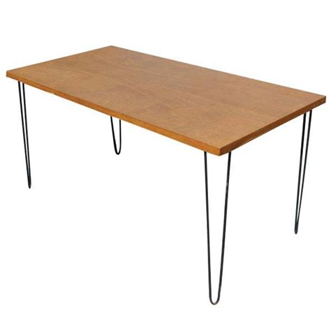 5ft vintage wood hairpin iron legs dining table ebay
