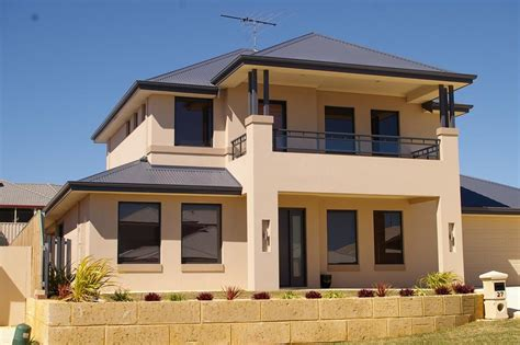 simple double storey house design exterior colour exteriors double storey house designs building price protection