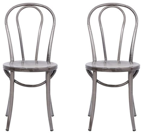 Steel Bistro Chairs Distressed Metal Bistro Chairs Set Of 2 Industrial Dining Chairs By Ace Casual Furniture