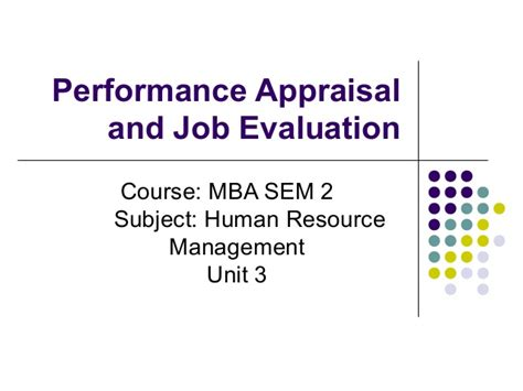 Human Resources Mba Internship by Mba Ii Hrm U 3 3 Performance Appraisal Evaluation
