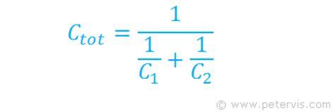 capacitor in series formula capacitors in series derivation
