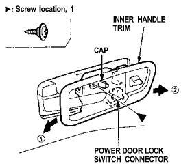 service manual how do i remove power door lock switch from a 1993 dodge caravan power door