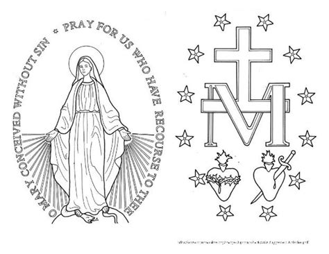 miraculous medal tattoos pinterest coloring