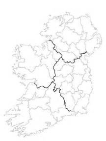 County Map Of Ireland Outline by Blank Map Of Ireland 32 Counties