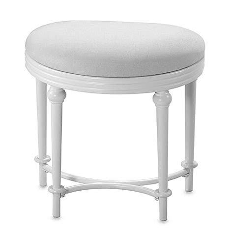 Bathroom Vanity With Stool Hillsdale Hton Kidney Shape Vanity Stool Www Bedbathandbeyond