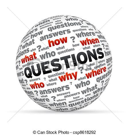 art design questions 3d questions sphere isoldated on white background clip