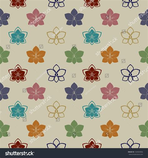 orchid pattern vector seamless pattern with orchid flowers vector background